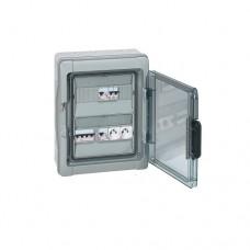 Coffrets DTU - 376x312x143 mmm - IP 65 - 1x32 A - arrivée sur bornier