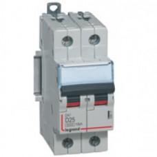Disjoncteur DX³ 6000 -vis/vis- 2P-230/400V~ -32A-10kA - courbe D - protect départ mono Legrand