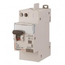 Disjoncteur différentiel mono DX³ 6000-vis/auto-U+N 230V~-32A-typeAC-30mA-10kA-courbe C-tête Legrand