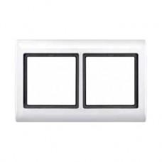 Plaques de finition à vis 2 postes blanc