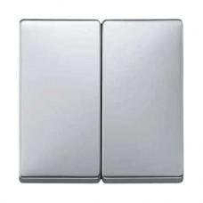 Enjoliveur pour interrupteur double allumage aluminium