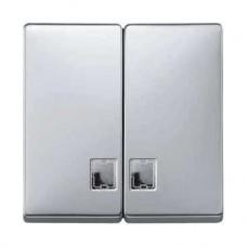 Enjoliveur pour interrupteur double allumage avec fenêtre pour symbole aluminium