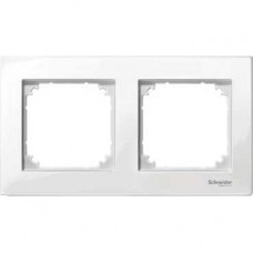 Plaque double blanc brillant