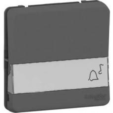 Bouton poussoir porte-etiquette - composable - IP55 - IK08 - gris