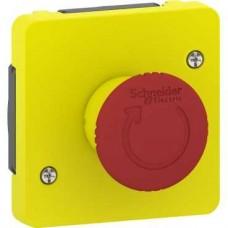 Arrêt d'urgence 1/4 tour - composable IP55 - IK08 - jaune