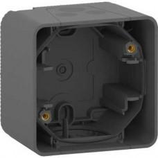 Boîte 1 poste - saillie - IP55 - IK08 - gris