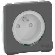 Prise de courant 2P+T à vis - composable - IP55 - IK08 - gris