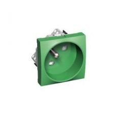 Prise 2P+T ROTO vert