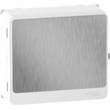 Habillage + porte touch aluminium - pour platine et bloc de commande 13 Modules