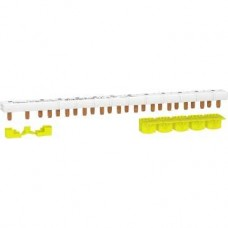 Peigne monobloc - 1P+N - 63A - 13 modules - cache dents 5M