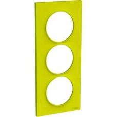 Plaque Vert Chartreuse 3 postes horiz. ou verticaux entraxe 71mm