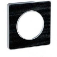 Plaque de finition Touch 1 poste Chêne Astrakan noir avec liseré aluminium