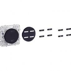 Combiné RF Anthracite, va-et-vient 10 A 2300 W 3 fils