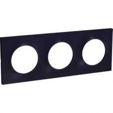 Plaque Anthracite 3 postes horiz./vert. entraxe 71mm