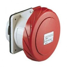 Socle de prise encastrée droite 125A 3PT 380-415V IP67 50-60HZ
