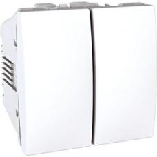 Interrupteur va et vient 2M double 10AX 250 V CA 2M Blanc