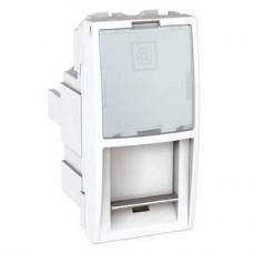 Prise de communication RJ45 multimédia 1module Blanc