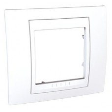 Plaque 2M simple Blanc