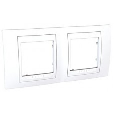 Plaque 4M double horizontal Blanc