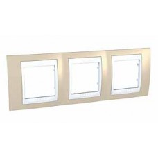 Plaque 6M triple horizontal sable/Blanc