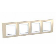 Plaque 8M quadruple horizontal sable/Blanc