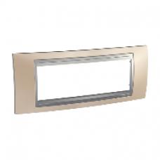 Plaque 6M cuivre onyx avec liseré Aluminium