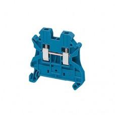 Borne à vis - passant - 2 points - 2,5mm² - bleu