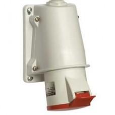 Socle prise BT saille inclinée connexion vis IP44 16A 3P+T 380-415V