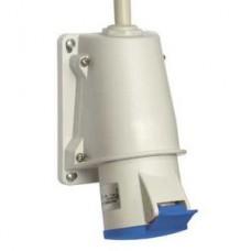 Socle prise BT saille inclinée connexion vis IP44 32A 3P+T 200-250V