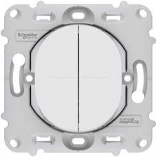 Double poussoir 10A - fix. par vis - sans plaque de finition