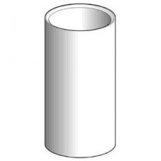 Cache tube L=100 mm aluminium noir